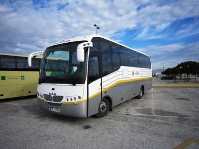 Bus buitenkant Spanje Andalusië Djoser