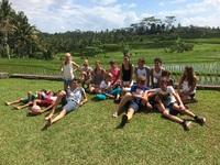 rijstveld kinderen family djoser indonesie