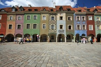 Poznan Djoser gekleurde huizen Polen