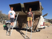Namibie auto tent kinderen Djoser Family