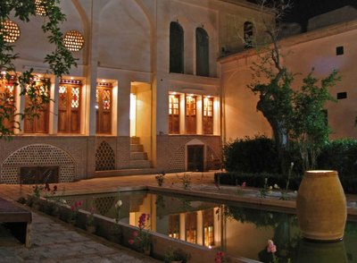 Iran Ehsan House Kashan binnentuin Djoser