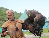 Kazachstan arend en man Djoser