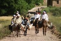 Wandelreis Marokko mannen op ezels en paarden Djoser