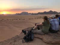 Wadi Rum zonsondergang Jordanië