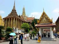 Emerald tempel Bangkok Thailand Family