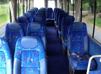 Bus Nieuw-Zeeland binnenkant