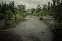 Chernobyl straat Oekraine