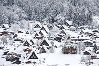 Shirakawago sneeuw Japan