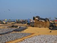 dag 12. Strand vissers Negombo