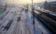 Irkutst station winter Rusland