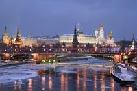 Moskou winter sneeuw Rode Plein kathedraal Rusland