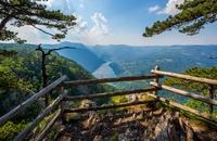 Uitzicht Banjska Tara berg Servie