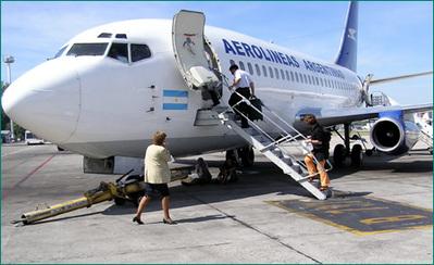 Argentinie luchtvaart vliegtuig binnenlandse vlucht