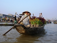 Can Tho drijvende markt Vietnam