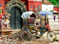 Riksja Kathmandu Nepal