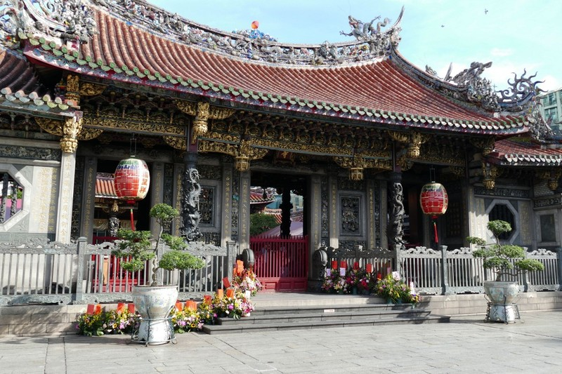 Mengjia Drakenbergtempel Taipei
