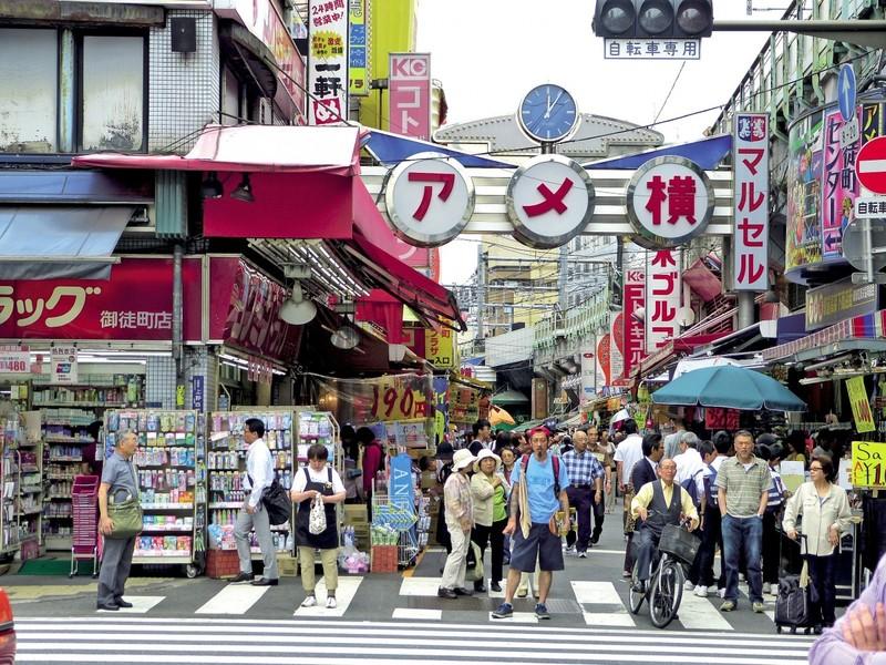 Tokyo, Ueno markt