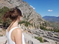 Meisje Family Delphi Griekenland