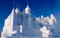 Harbin sneeuw gebouw China