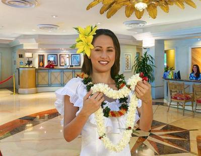 Ramada Plaza bloemenkrans Waikiki Hawaii Amerika