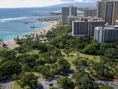 Ramada Plaza uitzicht Waikiki Hawaii Amerika