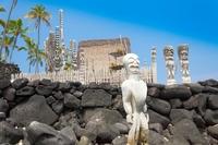 Houtsnijwerk beeld Honaunau National historical park Hawaii