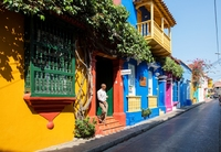 Cartagena straat Colombia