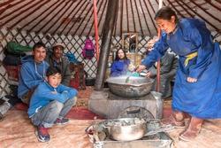 UNICEF ger binnenkant Mongolië