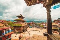 Bhaktapur plein Nepal