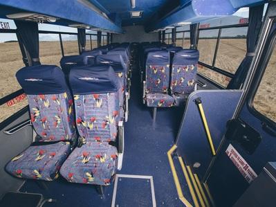 Bus binnenkant Zuid-Afrika