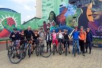 Graffititour fietsen Bogota Colombia