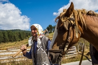 Vrouw boerin Bulgarije