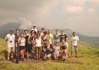 Mt. Aso family groep Japan