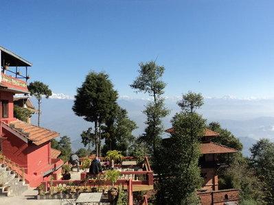 Hotel View Point uitzicht Nagarkot Nepal