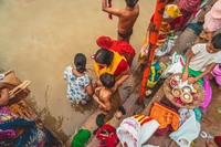 Ritueel Ghats Ganges Varanasi India Djoser