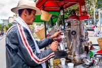 Koffie verkoper Colombia