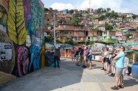 Medelin stadstour graffiti Colombia