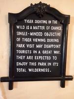 Bord 'focus je niet alleen op tijgers' India Djoser