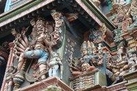 close-up Shree Meenakshi-tempel Madurai India Djoser