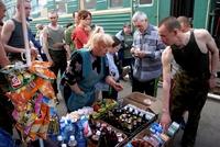 Transsiberië Express station stalletje