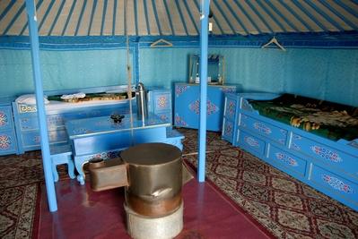 Ger binnekant Mongolië