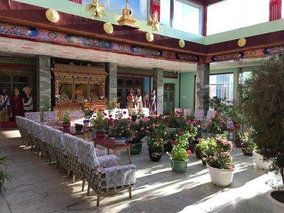 Gyantse hotel hal Tibet