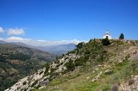 Landschap kerkje Kreta Griekenland