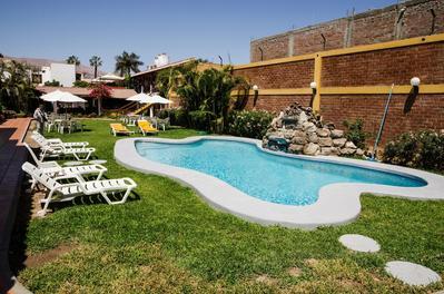 Hotel Oro Viejo zwembad Nasca Peru