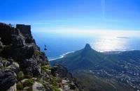 Zicht vanaf de Tafelberg Zuid-Afrika