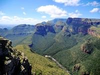 Drie rondavels Blyde river Canyon Zuid-Afrika