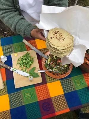 Mexicaanse tortillas eten