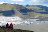 Skaftafell gletsjer uitzicht IJsland