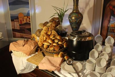 Edom Hotel ontbijt Petra Jordanie