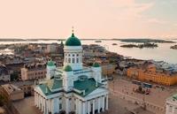 Uitzicht kerk Helsinki Finland